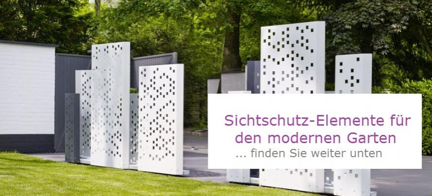 moderne garten sichtschutz m belideen. Black Bedroom Furniture Sets. Home Design Ideas