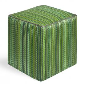 Pouf CUBE, Outdoor-Möbel, Streifen grün