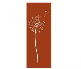 Sichtschutz-Wand Garten, Metall in Rost-Optik, 158 x 60 cm, Motiv-Auswahl Pusteblume 1