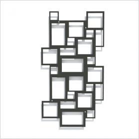 Rom Design-Rankgitter, schwarz, Metall-Spalier für Pflanzen 58 x 107 cm