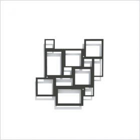 Rom Design-Rankgitter, schwarz, Metall-Spalier für Pflanzen 58 x 58 cm