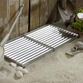 Design-Fußmatte Cubic für außen, Metall