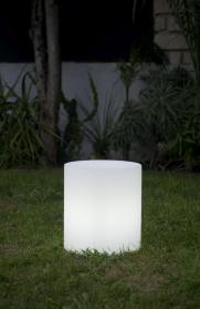 ALTY Gartenleuchte LED Farbwechsel, Zylinderform, Outdoor 24 cm