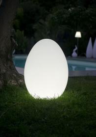 Gartenleuchte EASY, Bodenleuchte weiß, Outdoor, Ei-Form, für Garten und Balkon