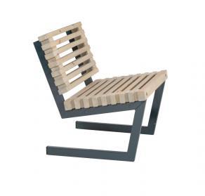 Design-Garten-Sessel aus Holz, Loft-Style