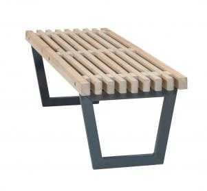 Gartentisch 140 cm, Holz-Gartenbank im Loft-Style