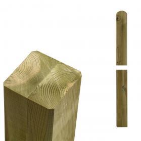 Pfosten, Holz natur, für Sichtschutz und Zaun Cubic