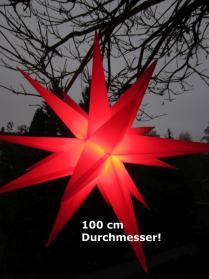 Leucht-Stern für Außen, XXL, 100 cm, rot, outdoor, Leuchtstern, für LED, Garten