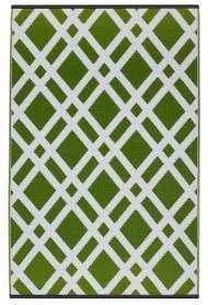 Outdoor-Teppich Dublin, grün-weiß, Rauten
