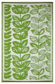 Outdoor-Teppich Male, grün-weiß, Blüten-Muster