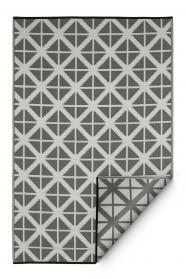 Outdoor-Teppich Manchester, grau-weiß