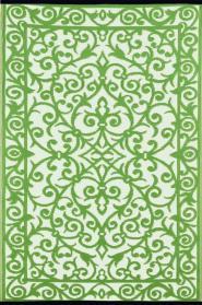 Outdoor-Teppich Gala, grün-weiß