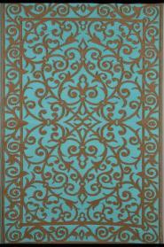 Outdoor-Teppich Gala, türkis/blau-gold 120 x 180 cm