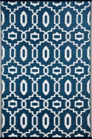 Outdoor-Teppich Sevilla, blau-weiß