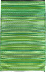 Outdoor-Teppich Cancun, Streifen grün 120 x 180 cm