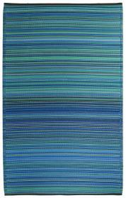 Outdoor-Teppich Cancun, Streifen blau-türkis