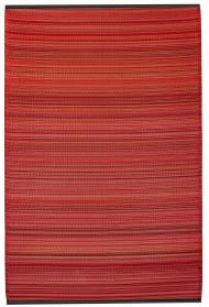 Outdoor-Teppich Cancun, Streifen rot