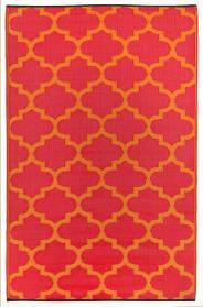 Outdoor-Teppich Tangier, rot-orange Ornamente