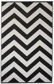 Schwarz weiß teppich  Garten im Quadrat   Outdoor-Teppich Arabien, schwarz-weiß