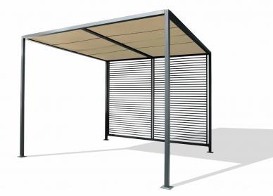 Garten im quadrat moderner garten produkte und ideen for Markise balkon mit tapeten wohnzimmer modern grau