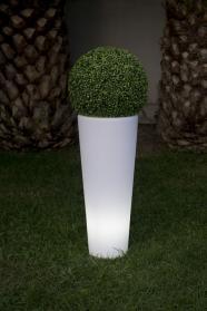 Beleuchteter Pflanzkübel COSMY outdoor, 90 cm hoch, weiß