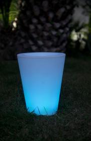 Beleuchteter Pflanzkübel COSMY outdoor, LED-Farbwechsel, 2 Größen