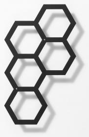 Rankhilfe, modernes Rankgitter Comb-ination, Metall 30 x 50 cm Dunkelgrau