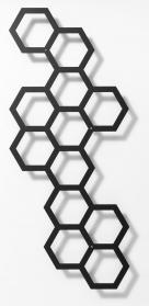 Rankhilfe, modernes Rankgitter Comb-ination, Metall 42 x 97 cm Lichtgrau