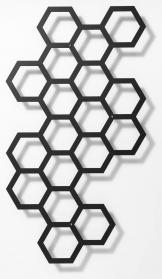 Comb-ination Rankhilfe, modernes Rankgitter, schwarz Metall 53 x 97 cm Lichtgrau