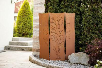 Garten im quadrat metall for Rost gitter garten