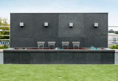 Sichtschutz Wand Aus Fiberglas, Moderne Beton Optik Für Den Garten, Leicht  Und Wetterfest