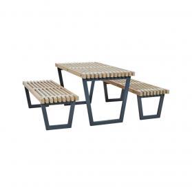 Biergarten-Sitzgarnitur Holz, Loft-Style