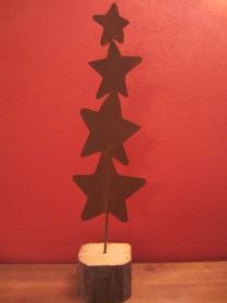 Sternenstab aus Metall, Edelrost, Weihnachtsdekoration, outdoor