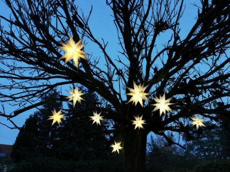 Outdoor-Lichterkette mit 9 Sternen, 3D, LED