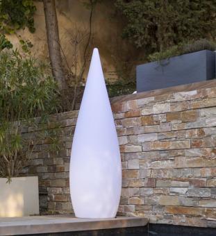 Outdoor-Leuchte CLASSIC, 80/120 cm, mit Akku und Fernbedienung, Leuchtfarbe wählbar