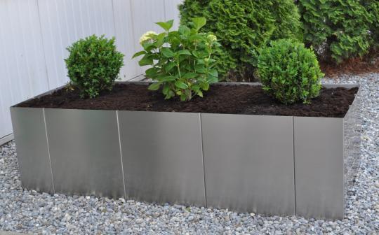 """Hochbeet """"Square 160"""", Edelstahl, Bausatz 33 cm hoch"""