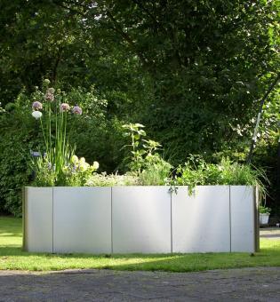 "Hochbeet ""Square 163"", Edelstahl, Bausatz"
