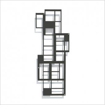 L.A. Design-Rankgitter, schwarz, modernes Spalier für Pflanzen 38 x 98 cm