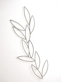 Wand-Spalier Fleuri, Design-Rankhilfe, Edelstahl matt