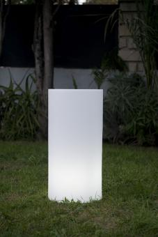 ALTY Gartenleuchte weiß Outdoor, Zylinderform, Säulen-Lampe für den Garten, drei Größen 70 cm