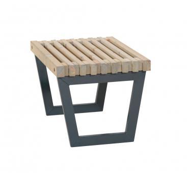 Gartentisch 80 cm, Holz-Gartenbank im Loft-Style