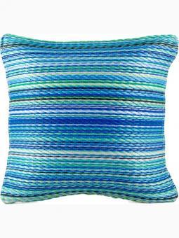 Outdoor-Kissen Cancun Streifen blau-türkis