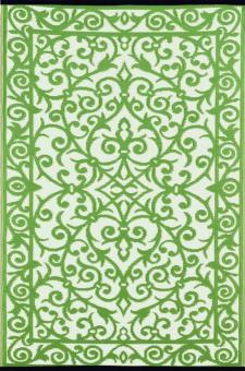 Outdoor-Teppich Gala, grün-weiß 120 x 180 cm