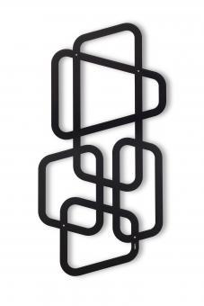 Paro Wandspalier, Rankgitter, schwarz Metall 116 x 59 cm Schwarz