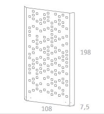 Separo Sichtschutz-System, weiß, Metall, für Garten und Dachterrasse 108 x 198 cm