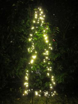 Weihnachtsbeleuchtung außen: 2 x Tannen-Silhouette XL LED