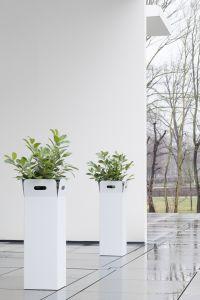"""Pflanzkübel """"Box"""" – Design einer Papiertüte Lichtgrau"""