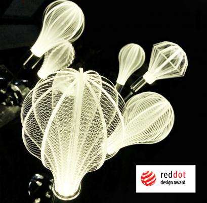 LOOP Design-LED-Leuchtmittel, Plexiglas, extra groß,verschiedene Varianten