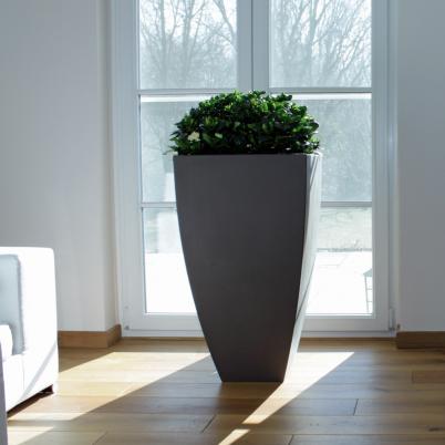 Pflanzgefäß hoch, Blumenkübel, modern, Beton-Optik. 11 verschiedene Farben, Erdtöne