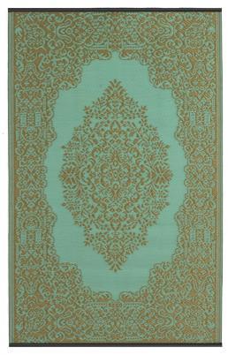 Outdoor-Teppich Istanbul, türkis/wasserblau-bronze, orientalisches Muster